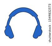 modern flat headphone icon...
