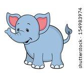 happy elephant isolated | Shutterstock . vector #154983974