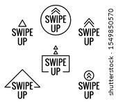 swipe up icon set isolated on...