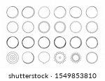 set of hand drawn circles ... | Shutterstock .eps vector #1549853810