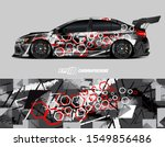 race car wrap decal designs.... | Shutterstock .eps vector #1549856486