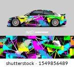 race car wrap decal designs.... | Shutterstock .eps vector #1549856489