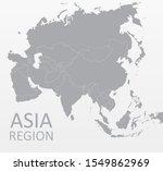 asian map vector  each country... | Shutterstock .eps vector #1549862969