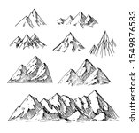 mountain sketches. hand drawn... | Shutterstock .eps vector #1549876583