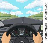 car drive pov concept. view... | Shutterstock .eps vector #1549896620