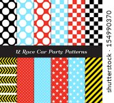 Race Car Theme Seamless Patter...