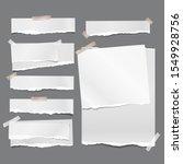 set of torn white note ... | Shutterstock .eps vector #1549928756