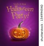 halloween pumpkin background | Shutterstock . vector #154994540
