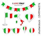italy symbols attributes. heart ... | Shutterstock .eps vector #1549946576