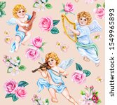 Vintage Samless Pattern With...