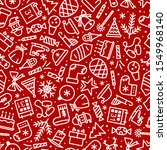 christmas pattern cute style... | Shutterstock .eps vector #1549968140