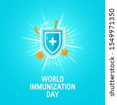 world immunization day concept. ... | Shutterstock .eps vector #1549971350