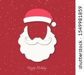 santa claus hat  beard and... | Shutterstock .eps vector #1549981859