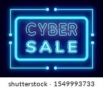 cyber sale vector  isolated... | Shutterstock .eps vector #1549993733