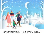 people wearing scarf carrying... | Shutterstock .eps vector #1549994369