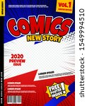 comic book page template design....   Shutterstock .eps vector #1549994510
