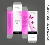 perfume box design | Shutterstock .eps vector #155000849