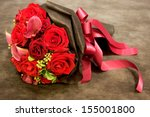 Stock photo beautiful bouquet for celebration and wedding 155001800