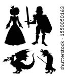 Set Of Silhouettes With...