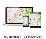 gps map mobile vector app...