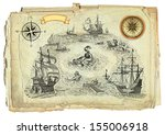 old pirate map | Shutterstock . vector #155006918