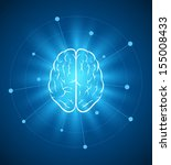 vector brain design template.... | Shutterstock .eps vector #155008433