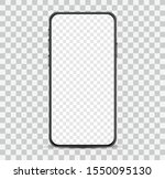 simple smartphone mockup with... | Shutterstock .eps vector #1550095130