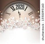 christmas illustration. golden... | Shutterstock .eps vector #1550095160