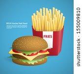 fast food vector illustrations | Shutterstock .eps vector #155009810
