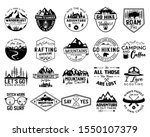 vintage camp logo bundle ... | Shutterstock .eps vector #1550107379
