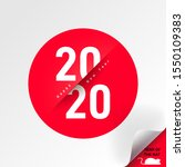 typography text 2020 font and... | Shutterstock .eps vector #1550109383