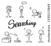 lost and confused stick figures....   Shutterstock .eps vector #1550115869