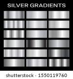 silver metal gradient...   Shutterstock .eps vector #1550119760