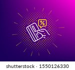 credit card percent line icon.... | Shutterstock .eps vector #1550126330