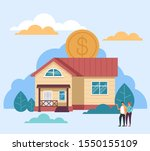 mortgage house rent sale...   Shutterstock .eps vector #1550155109