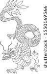 outline chinese dragon... | Shutterstock .eps vector #1550169566