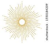 vintage sunburst design vector...   Shutterstock .eps vector #1550184209