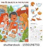 find 8 objects in the picture.... | Shutterstock .eps vector #1550198753