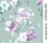 seamless pattern with spring... | Shutterstock .eps vector #1550201489