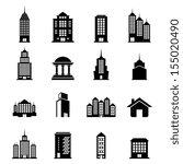 building vector set   Shutterstock .eps vector #155020490