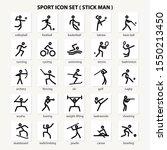 sport icon set   stick man  ... | Shutterstock .eps vector #1550213450