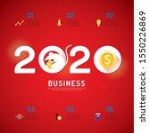 business calendar 2020 concept. ... | Shutterstock .eps vector #1550226869