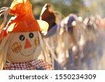 Scarecrows Closeup Fall Festive ...