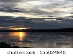 sunset at mekong river chiang... | Shutterstock . vector #155024840