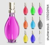 aromáticos,bela,beleza,preto,azul,garrafa,coleção,coloridos,recipiente,cosméticos,elegância,moda,fêmea,perfumaria,perfumado