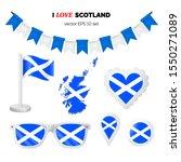 scotland symbols attributes.... | Shutterstock .eps vector #1550271089