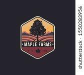 vintage hipster emblem maple... | Shutterstock .eps vector #1550283956