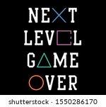 vector game over video game...   Shutterstock .eps vector #1550286170