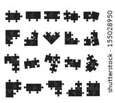 puzzle icons set   isolated on... | Shutterstock .eps vector #155028950