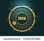 astrological symbols in the...   Shutterstock . vector #1550292380